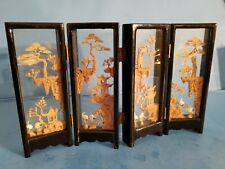 "Rare Miniature 7"" Chinese Glass Screen.Desk Decoration.Attention To Detail."