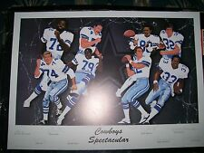 Cowboys Spectacular by Vernon Wells Full Sized Autographed Lithograph w/Cert.