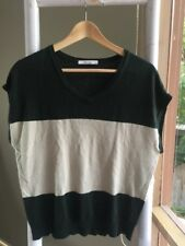 Lovely •Morrison• Oversized Oatmeal Black Color Block Knit Top Sz XS EUC