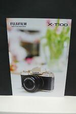 2018 Fujifilm X t100 FUJI FOTOCAMERA prospetto Photo apparato catalogo camera brochure!