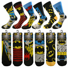 6 Pairs Mens Official DC BATMAN Socks Novelty Cartoon Comic Tv Theme Adults 6-11