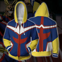 Anime All·Might My Boku No Hero Academia Hooded Jacket Long Sleeve Coat #HJ54