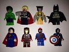 Novelty Marvel/DC Minifigure Superhero Cufflinks Ironman Batman Spiderman Hulk