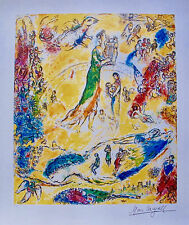 MARC CHAGALL SORCERER OF MUSIC Limited Edition Facsimile Signed Lithograph Art