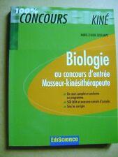 Livre Concours kiné biologie concours d'entrée masseur kinésithérapeute /P24