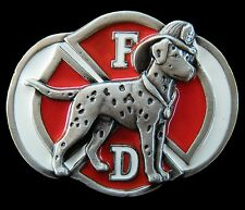 BOUCLE DE CEINTURE FIREFIGHTER FIREMAN DALMATIAN DALMATION DOG PET BELT BUCKLES