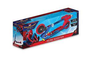 MARVEL Spider-Man Design Kids Inline Folding Adjustable Scooter<BEST GIFT>