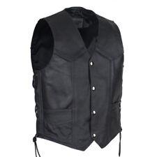 Boys Black Leather Motorcycle Vest - 10-12 - Biker Kids - Childs - XL