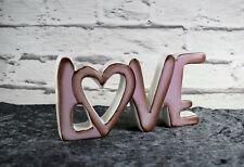 Schriftzug Love Keramik altrosa 17,5cm Deko Dekoration