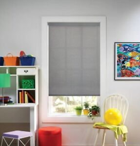 NEW Bali Cut to Size Cordless Light Filtering Roller Shade - Charcoal
