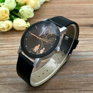Fashion watch. Casual leather belt quartz watch. Suitable for a Christmas gift.(
