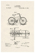 Bicycle Gearing Official Patent Diagram Poster 12x18 inch