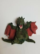 Folkmanis Winged Dragon Hand Puppet Green Red Stuffed Toy Plush