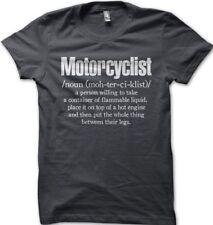 aprilia racing Motorcyclist Biker charcoal grey printed t-shirt 0454