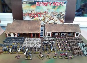 Black Powder Warlord Game's Rorke's Drift!-Well painted minis and scenery