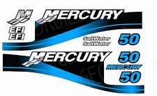 BLUE MERCURY 50 OUTBOARD FOUR STROKE MOTOR STICKERS DECAL KIT ENGINE