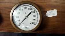 Vintage DANTON by DURO INSTRUMENT CORP. 1000 PSI Nautical Steam Pressure Gauge