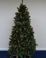 Green PRELIT 195CM (6.5FT) albero con glitter oro suggerimenti e 400 LED bianco caldo B..