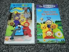 LOT 2 PBS KIDS TELETUBBIES VHS TAPES HERE COMES THE TELETUBBIES and FUNNY DAY