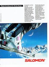 Publicité Advertising 1988  078   chaussures ski Salomon SX 92