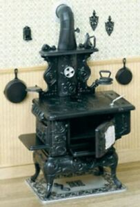 Dollhouse Miniature Cook Stove Kit by Chrysnbon