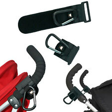 Baby Accessory Buggy Pram Hanger Car Carriage Stroller Hook Metal Leather