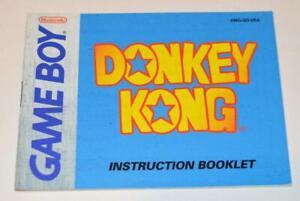 MANUAL ONLY Donkey Kong Nintendo Gameboy Instruction Booklet