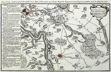KOßDORF (MÜHLBERG) - Schlacht bei Koßdorf - Kupferkarte 1761