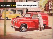 Austin A30 5cwt Delivery Van 1954-56 Original UK Sales Brochure Pub. No. 1140/A