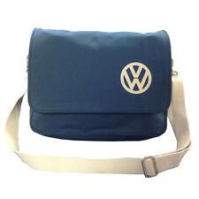 Official VW Canvas Messenger Shoulder Bag - Blue