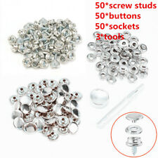 153Pcs 3/8'' Stainless Steel Snap Fastener Buttons sockets Screw Studs With Tool
