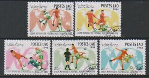 Laos - 1994, World Cup Football set - CTO - SG 1386/90 (d)