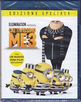 Blu-ray **CATTIVISSIMO ME 3 + I MINIONS** nuovo sigillato 2017