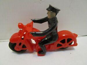 VINTAGE HUBLEY PLASTIC POLICE MOTORCYCLE & RIDER ***EXCELLENT***