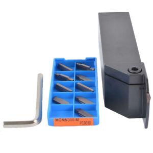 MGEHR3232-3+10PCS MGMN300-M PC9030 CNC External slot Groov turning tool holder