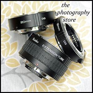 FREE UK POST Nikon Digital SLR Kenko DG Extension Tubes MACRO close ups insects