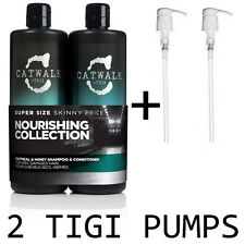 TIGI Catwalk Oatmeal and Honey Duo Shampoo & Conditioner 750ml + PUMPS