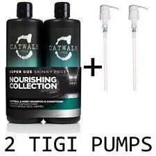 TIGI Catwalk Oatmeal and Honey Shampoo & Conditioner 750ml x 2 + PUMPS!