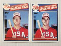 1985 TOPPS #401 MARK MCGWIRE RC LOT OF 2