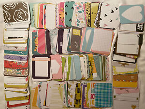 "Mixed Lot Grab Bag 100 Project Life 4""x 3"" Journal Cards Scrapbook Paper Crafty"