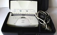1990s Portable Canon BJ-30 Bubble Jet Printer K10156 in Original Case