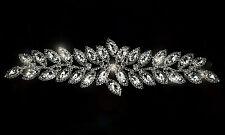 Strass strass Applique à coudre motif mariage argent cristal Patch A69