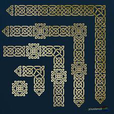 Celtic Knot Border Stencil Set: LARGE:   For Walls, Furniture and Art: ST89