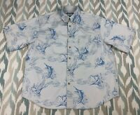 Columbia Men's Short Sleeve Fishing Button Down Shirt Outdoor Size L Large
