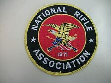 "NRA- NATIONAL RIFLE ASSOCIATION EMBROIDERED PATCH 3"" Round."