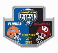 2020 COTTON BOWL GAME PIN FLORIDA GATORS VS. OKLAHOMA 2020 NCAA COLLEGE FOOTBALL