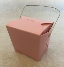 Max 24 pcs Chinese Take Out Food and Party Favor Boxes: 8 Oz. (1/2 Pint) -Pink