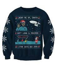 Adults Sci Fi Inspired By Star Trekkie Christmas Jumper Sweatshirt