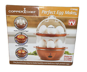 NEW Copper Chef Perfect Egg Maker Auto Boil As Seen On TV