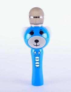 BLUE BEAR KARAOKE BLU*TOO*H HANDHELD MICROPHONE WITH LED LIGHT EARS